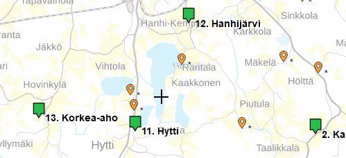 Kuva kyläpyöräilyn kartalta